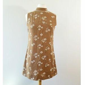 Vintage 1960's Daisy Mini Shift Dress